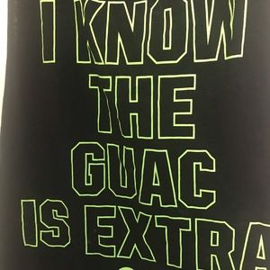 "VS Pink ""I Know the Guac is Extra"" tank size M"